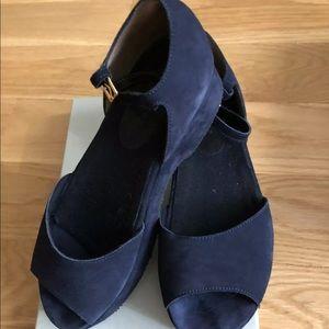 Marni Blue Suede platform sandals